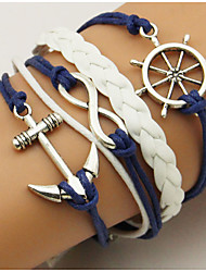 cheap -Men's Women's Wrap Bracelet Loom Bracelet Anchor Bohemian Double-layer Alloy Bracelet Jewelry Blue For Daily Casual