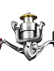 cheap -Spinning Reel 5.2/1 Gear Ratio+10 Ball Bearings Hand Orientation Exchangable Spinning / Lure Fishing - A-1000-5000