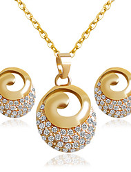 cheap -Women's Bridal Jewelry Sets Earrings Jewelry Golden For Wedding Party / Necklace