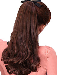 cheap -Micro Ring Hair Extensions Synthetic Hair Hair Piece Hair Extension Wavy