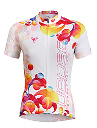 cheap -TASDAN Women's Short Sleeve Cycling Jersey Floral Botanical Plus Size Bike Jersey Top Mountain Bike MTB Road Bike Cycling Breathable Quick Dry Ultraviolet Resistant Sports Clothing Apparel / Stretchy