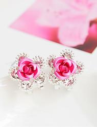 cheap -Women's Stud Earrings Flower Fashion Earrings Jewelry Red / Blue / Pink For Wedding Party