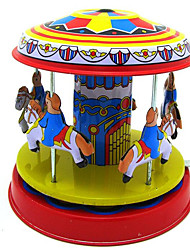 cheap -Wind-up Toy Stress Reliever Retro Novelty Horse Carousel Metalic Iron Vintage Retro 1 pcs Adults' Boys' Girls' Toy Gift