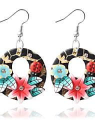 cheap -Women's Drop Earrings Bohemian Earrings Jewelry Purple / Red / Blue For Wedding Party Daily Casual 1pc