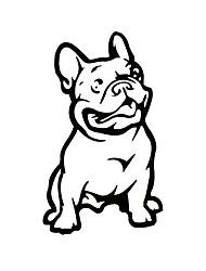 Недорогие -ziqiao моды французский бульдог собака стикер автомобиля любимчика автомобили этикетой атмосферостойких авто стиль мультфильма стикеры
