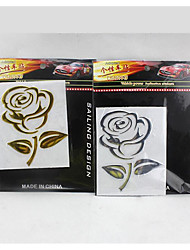 cheap -Car Stickers Car Stickers Car Rose PVC Soft In Car Stereo With /3D