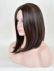 cheap -Synthetic Wig Straight Straight Wig Short Medium Length Brown Synthetic Hair Women's Ombre Hair Brown