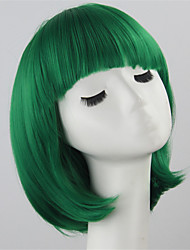 cheap -bob women short wigs green ladies synthetic wigs women short straight hair cosplay wigs Halloween