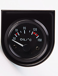 "cheap -2"" 52mm 12V Universal Car Pointer oil Temperature Temp Gauge 40-120 White LED"