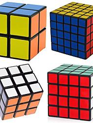 abordables -4 pièces Cube magique Cube QI Shengshou 2*2*2 3*3*3 4*4*4 5*5*5 Cube de Vitesse  Cubes Magiques Anti-Stress Casse-tête Cube Niveau professionnel Vitesse Professionnel Classique & Intemporel Enfant