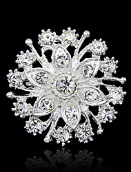 cheap -Women's Brooches Round Cut Fashion Rhinestone Brooch Jewelry Silver For Party Special Occasion Birthday Gift Daily