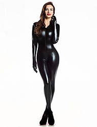 cheap -Men's Women's Super Heroes Bat Cosplay Sexy Uniforms Sex Zentai Suits Cosplay Costume Party Costume Solid Colored Leotard / Onesie / Catsuit