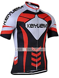 cheap -KEIYUEM Men's Women's Short Sleeve Cycling Jersey Coolmax® Silicon Bike Jersey Top Breathable Quick Dry Ultraviolet Resistant Sports Clothing Apparel / Stretchy / Back Pocket / Sweat-wicking