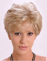 cheap -Synthetic Wig Straight kinky Straight kinky straight Straight Asymmetrical Wig Blonde Short Blonde Synthetic Hair Women's Natural Hairline Blonde