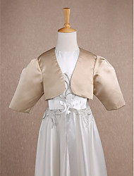 cheap -Satin Wedding / Party Evening Kids' Wraps With Ruched Shrugs