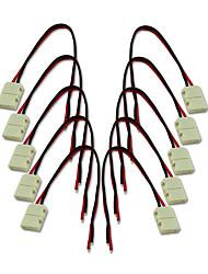 cheap -8mm 2Pin 10Pcs LED Strip Connectors For 3528 Single Color LED Strip