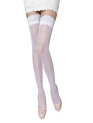 cheap -Women's Thin Sexy Stockings - Jacquard White One-Size
