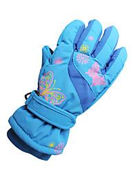 cheap -Ski Gloves Boys' Girls' Kid's Snowsports Full Finger Gloves Warm Canvas Ski / Snowboard