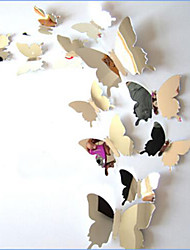 cheap -Animals Wall Stickers Mirror Wall Stickers Decorative Wall Stickers, Vinyl Home Decoration Wall Decal Wall Decoration / Washable / Removable / Re-Positionable