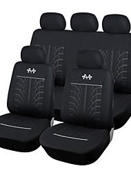 abordables -Autoyouth noir / gris textile respirant matériau durable housse de siège de voiture pour volvo / volkswagen / toyota etc.