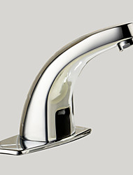 abordables -Robinet lavabo - Tactile / non tactile Chrome Set de centre 1 trou / Mains libres un trouBath Taps