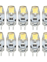 cheap -3 W LED Bi-pin Lights 300-350 lm G4 T 1 LED Beads COB Waterproof Decorative Warm White Cold White Natural White 12 V / 10 pcs / RoHS / CE Certified