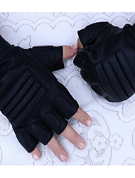 cheap -Man PU Half Gloves Fitness Outdoor Waterproof Leather Gloves Black Hawk Riding Tactical Motorcycle Gloves