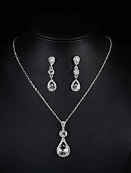cheap -Women's Pendant Necklace Necklace / Earrings Bridal Jewelry Sets Fashion Rhinestone Earrings Jewelry Silver For Wedding Party