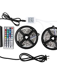 cheap -ZDM 2 x 5 m Waterproof  5050 RGB SMD 10mm Light Sets 300 LEDs with 44Key IR Controller 70W 12V6A Power Supply Soft Light Strip Kit