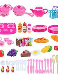 Недорогие -Игрушка кухонные наборы Детская техника Кулинария Ролевые игры Овощи Фрукт Своими руками ABS Мальчики Девочки Игрушки Подарок 54 pcs