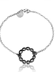 cheap -Women's Chain Bracelet Vintage Fashion Sterling Silver Bracelet Jewelry Silver / Black For Wedding Party Daily Casual