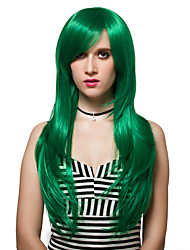 cheap -Synthetic Wig Straight Wig Long Green Synthetic Hair Women's Green