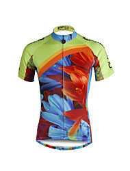 cheap -ILPALADINO Women's Short Sleeve Cycling Jersey Floral Botanical Plus Size Bike Jersey Top Mountain Bike MTB Road Bike Cycling Breathable Quick Dry Ultraviolet Resistant Sports Clothing Apparel