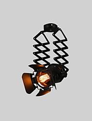 Недорогие -старинный лофт пятно света промышленный подвесной свет черный прожекторы одежда магазин потолочный светильник