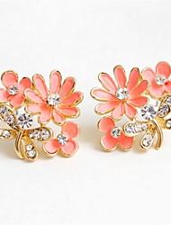 cheap -Women's Stud Earrings Flower Fashion Earrings Jewelry White / Black / Pink For Wedding Party