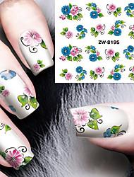 cheap -fashion printing pattern water transfer printing gouache flower nail stickers