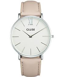 cheap -Men's Couple's Fashion Watch Wrist Watch Quartz Leather Black / Blue / Pink 30 m / Analog Casual - Gray Pink Black / Gray