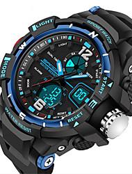 cheap -SANDA Men's Sport Watch Digital Watch Quartz Digital Water Resistant / Waterproof Analog - Digital Golden Black Red / Two Years / Rubber / Alarm / Calendar / date / day / Luminous