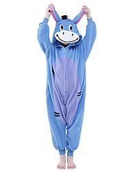 cheap -Kid's Kigurumi Pajamas Donkey Animal Onesie Pajamas Polar Fleece Blue Cosplay For Boys and Girls Animal Sleepwear Cartoon Festival / Holiday Costumes