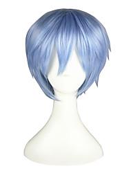 cheap -Kuroko no Basket Tetsuya Kuroko Cosplay Wigs Men's Women's 12 inch Heat Resistant Fiber Blue Anime