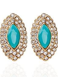 cheap -Women's Stud Earrings Drop Earrings Fashion Earrings Jewelry Blue / Dark Brown / Dark Green For Wedding Party 1pc