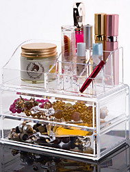 cheap -Makeup Cosmetics Storage Makeup 1 pcs Acrylic / Plastic Classic Daily Cosmetic Grooming Supplies
