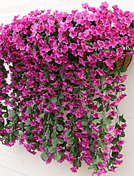 cheap -Silk modern style wallflower, DIY hanging basket wreath wedding family wall rattan silk thread flower decoration