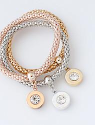 cheap -Women's Wrap Bracelet Fashion Alloy Bracelet Jewelry Silver / Golden / Rose Gold For Wedding
