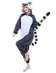 cheap -Adults' Kigurumi Pajamas Lemur Animal Onesie Pajamas Polar Fleece Ink Blue Cosplay For Men and Women Animal Sleepwear Cartoon Festival / Holiday Costumes