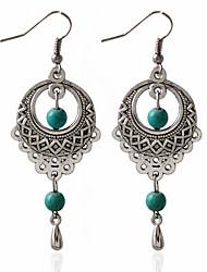 Недорогие -Жен. Серьги-кольца Мода Серьги Бижутерия Зеленый Назначение Свадьба
