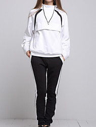cheap -ARNE® Women's Stand Long Sleeve Sets White-A031+10024