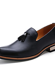 cheap -Men's Formal Shoes Nappa Leather Fall / Winter British Loafers & Slip-Ons Walking Shoes Black / Brown / Red / Wedding / Party & Evening / Wedding / Lace-up / Party & Evening