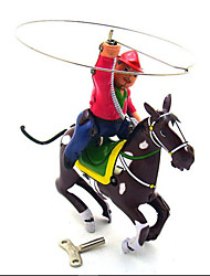 cheap -Wind-up Toy Pretend Play Novelty Warrior Horse Metal Vintage 1 pcs Adults' Toy Gift