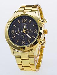 cheap -Men's Wrist Watch Quartz Gold Casual Watch / Analog Classic Casual Dress Watch - Black White Blue